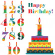 Birthday set — Vector de stock
