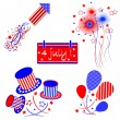 Independence day ,set — Stock Vector