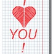 Vector de stock : Valentine card.