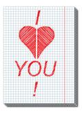 Valentine card. — Vetor de Stock