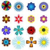 Flowers set. — Stock Vector