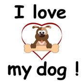 I love my dog — Vetor de Stock