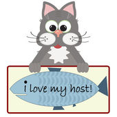 I love my host — Stock Vector