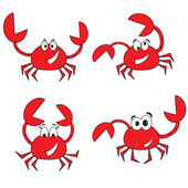 Crabs set — Stock Vector