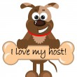 Stock Vector: I love my host