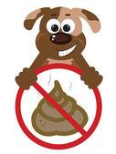 Stop Poop Sign — Stock Vector