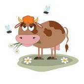 Cow cartoon. — Stock Vector