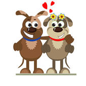 Dogs in love — Stock Vector