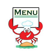 Crab with banner. — Stock Vector