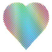 Rainbow heart — Stock Vector