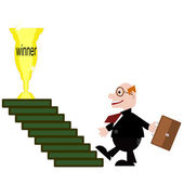 Businessman winner — Foto Stock
