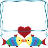 Rama z ryb — Zdjęcie stockowe