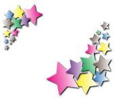 Varicolored stars,frame. — 图库照片