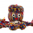 Octopus devilfish colorful woolen threads isolated — Stock Photo