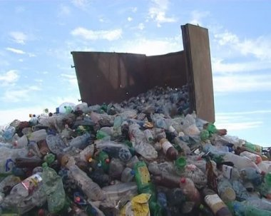 Recycling. pet bottles. — Stock Video