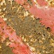 Rusty painted metal plate background. — Stock Photo #13304756