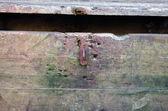 Retro grunge rusty chest treasure box open closeup — Stock Photo