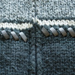 Stock Photo: Background of wool knit sweater leather stitch