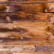 Old abandoned rural house walls made of boards — Stock Photo