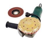 Sander grinder tool worn sandpaper head — Стоковое фото