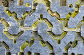 Tire rubber protector tread old grunge background — Stock Photo