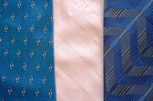 Three cravat tie scarfs texture pattern background — Stock Photo