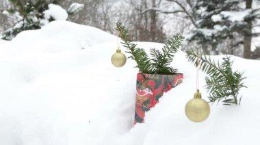 光泽玩具圣诞雪 — 图库视频影像
