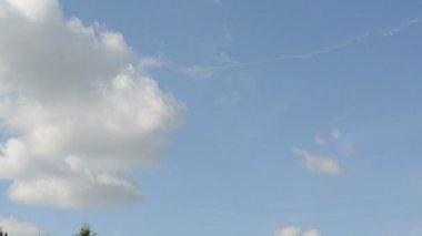 Sport plane sky smoke — Wideo stockowe