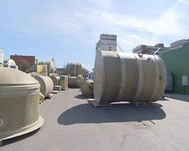 Zařízení používané v čištění odpadních vod. ochrana životního prostředí. — Stock video