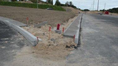 Road construction car — Stock Video