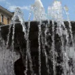 Stock Video: Fountain water squirt