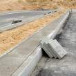 Pavement tiles sidewalk. highway road construction — Stock Photo