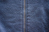 Jumper robe garment zipper worn fabric closeup — Stock Photo