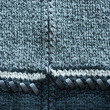 Wool knit sweater leather stitch backdrop closeup — Stock Photo
