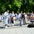 Represent ukrainian folk music dance and sing — Stock Video