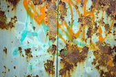 Corrosion affect paint wall surface metal surface — Stock Photo