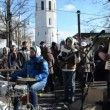 Stock Video: Musiciplay music drums accordion street festival