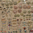 Vintage jewelry from brass decorated beads stone — Stockfoto