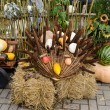Stock Photo: Handmade hedgehog autumn harvest goodie