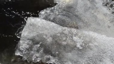 Ice stream flow winter — Stockvideo