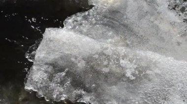 Inverno de fluxo de fluxo de gelo — Vídeo Stock