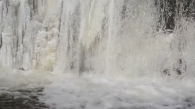 Hielo agua congelada en invierno — Vídeo de Stock