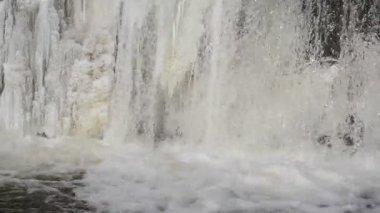 Isvatten fryst vinter — Stockvideo