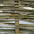 Stock Photo: Closeup wicker weave wooden twig fence background
