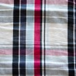 Fabric material square red blue black background  — Stock Photo