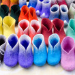 Colorful felt boots in market — Stock Photo #24372775