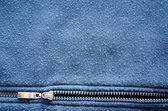 Robe horizontal zipper fabric background — Stock Photo