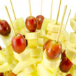 Stock Photo: Fruit grape bananscewers stick diet food