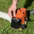 Gardener start trimmer — Stock Video