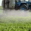 Stock Video: Tractor spray herbicide